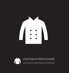 Isolated cardigan icon leather element can vector