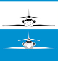 jet airliner flat style vector image