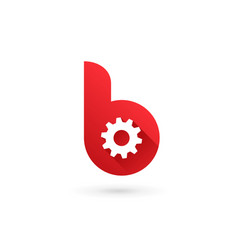 letter b technology logo icon design template vector image