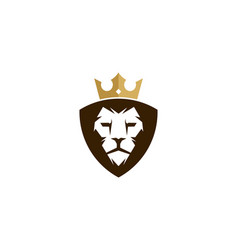 lion king logo icon design vector image