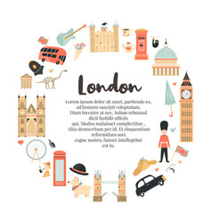 london circle abstract design with big ben tower vector image