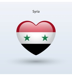 Love Syria symbol Heart flag icon vector