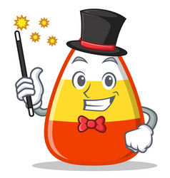 magician candy corn character cartoon vector image