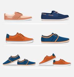 Men shoes set vector