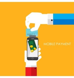 Mobile Payment Flat Concept vector