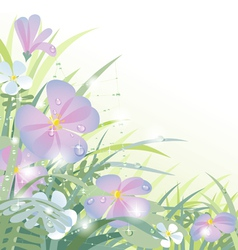 Morning flowers vector