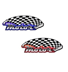 Motor racing icons in two colour options vector