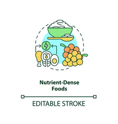 Nutrient dense foods concept icon vector