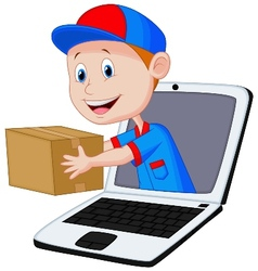 Online delivery cartoon vector