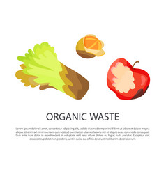 Organic waste poster text vector
