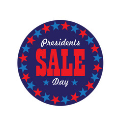 Presidents day sale typography graphic in circle vector