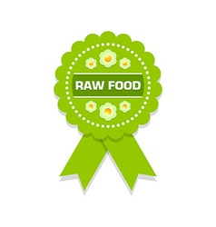 Raw food rosette vector image vector image