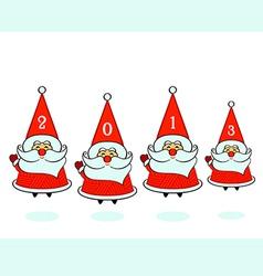Santa Clauses vector image