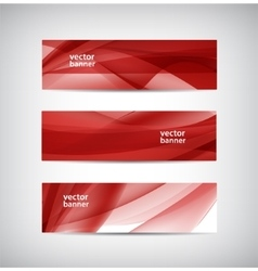 set of abstract wavy banners vector image