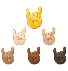sign of the horns hand emoji vector image