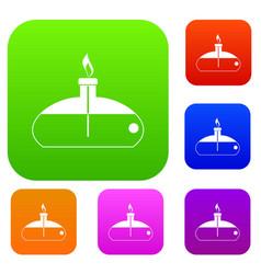 Spiritlamp set color collection vector