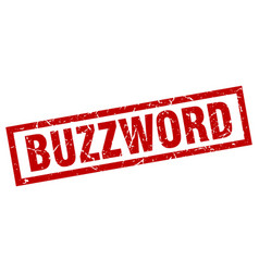 Square grunge red buzzword stamp vector