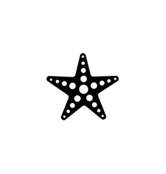 starfish icon isolated vector image