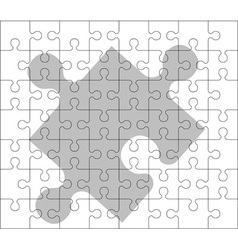 Stencil of puzzle pieces second variant vector