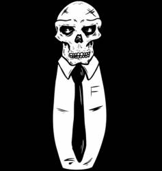 suit wearing skull vector image