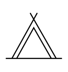 tent outline icon vector image
