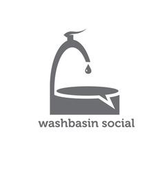 Washbasin social concept vector