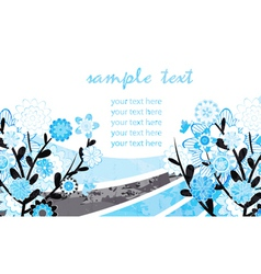 watercolor greeting card vector image