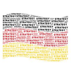 Waving german flag mosaic of strategy texts vector