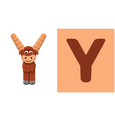 Y is for yak letter y yak cute vector