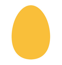 yellow egg icon isolated on background modern fla vector image