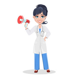 doctor woman professional medical staff vector image