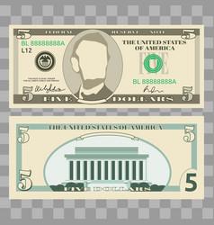 dollar banknotes us currency money bills vector image vector image