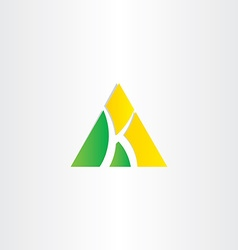 letter k triangle icon vector image