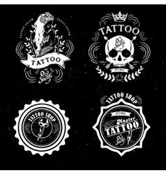 Tattoo old school studio skull vector