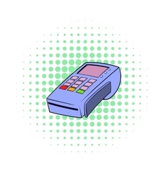 Terminal for credit card icon comics style vector image vector image