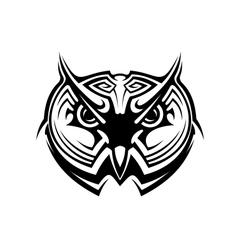 Tribal owl tattoo vector image vector image