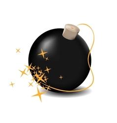 black bomb vector image vector image