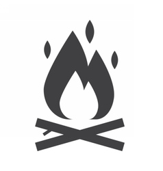 Bonfire Outline Icon vector image vector image
