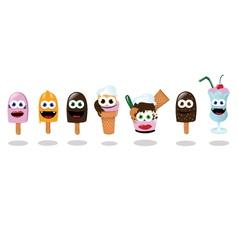 Funny Ice Creams vector image