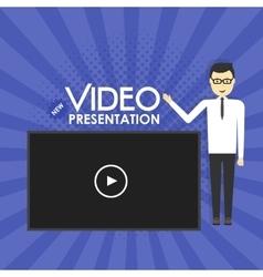 Man video presentation concept vector