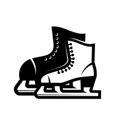 Pair of ice skates vector image