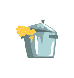 pan overflowing with dough cartoon vector image