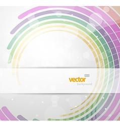 Abstract futuristic circles vector image