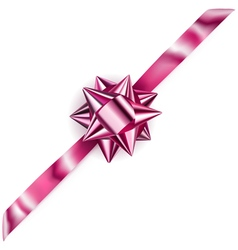 Beautiful pink shiny bow vector image vector image