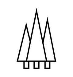forest outline icon vector image
