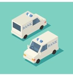 isometric bank car icon vector image