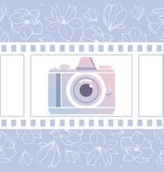 Photographer design element for logotype vector