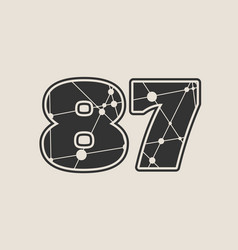 87 number vector image vector image