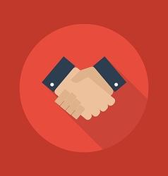 Business flat icon handshake vector