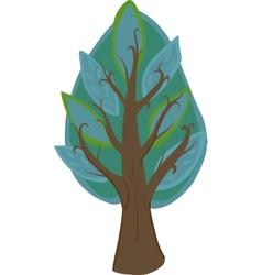 Cartoon Tree Isolated vector image vector image